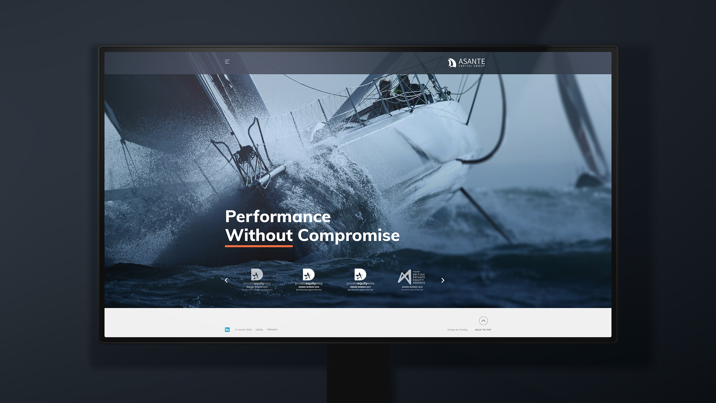 We aligned performance sailing with the service ethic of the business - a product without compromise.