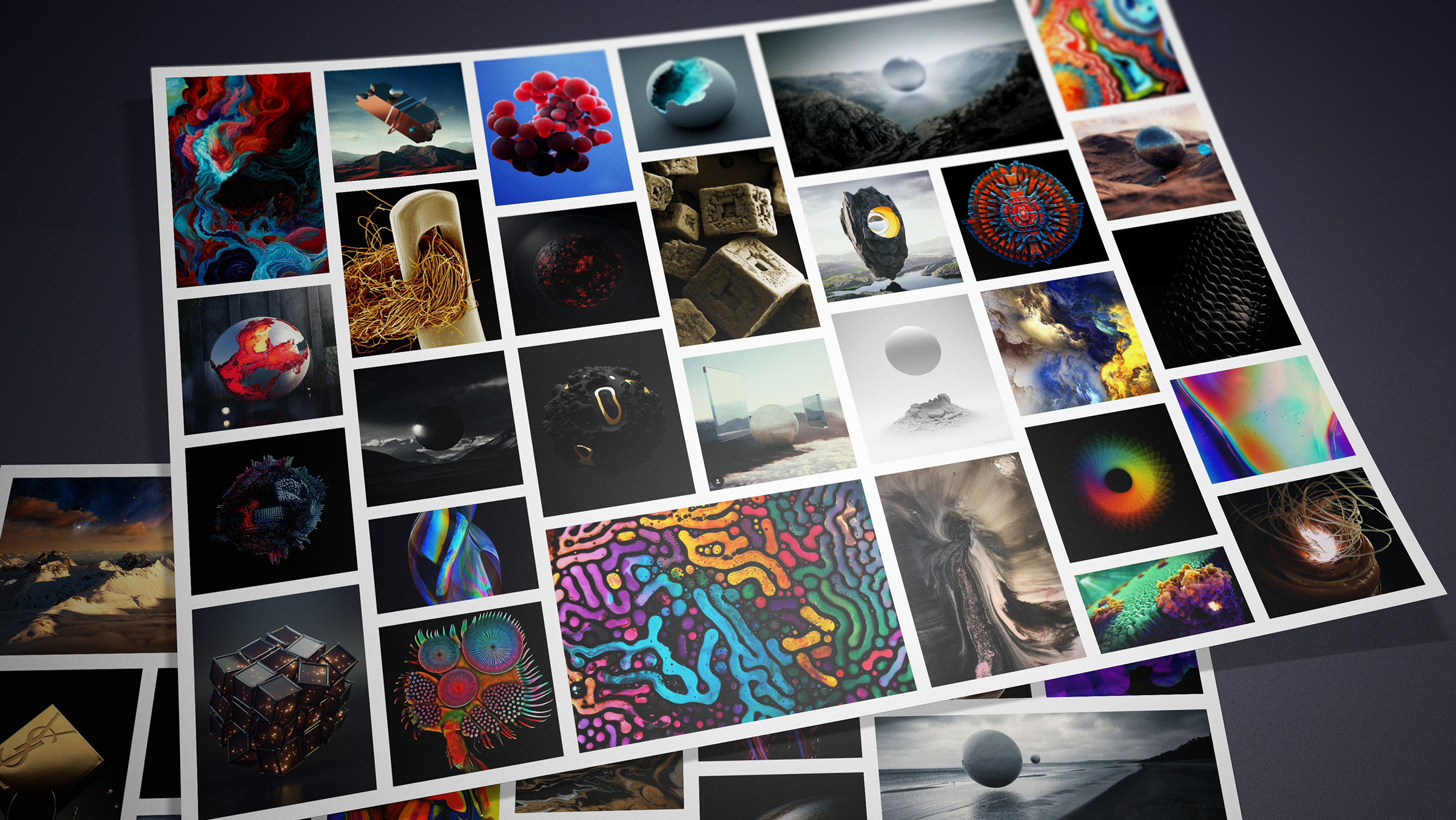 Our visual research explored all kinds of wondrous and imaginative artistic forms.