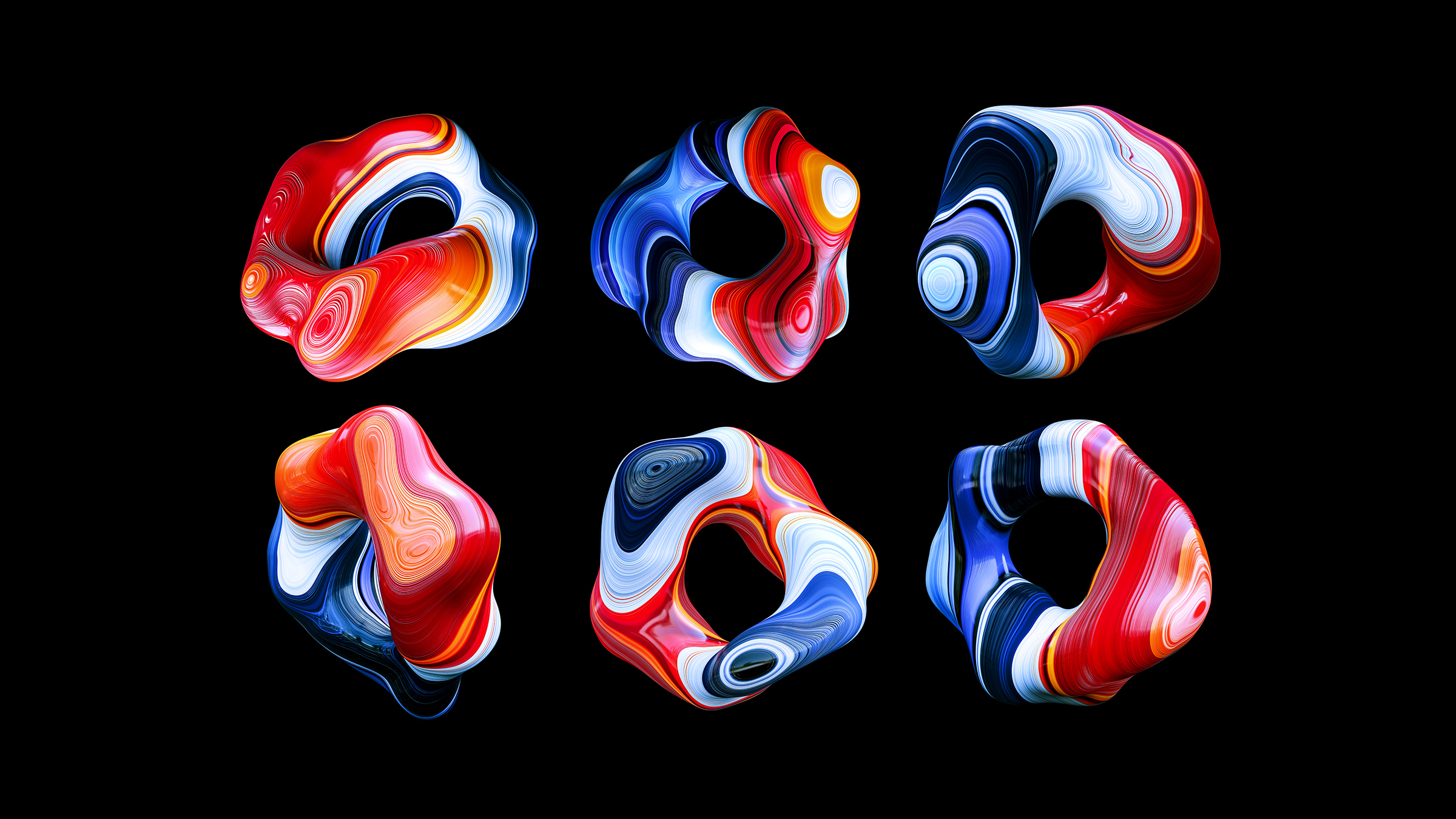 The series of supporting images. The nature of 3D means that now that the forms have been modelled - new images can be created in perpetuity.