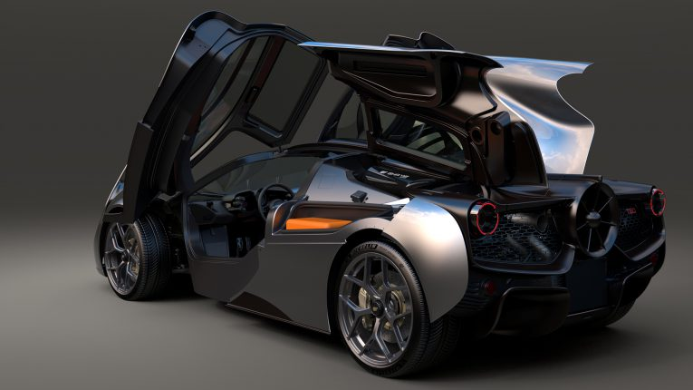 The T.50 with its notable gullwing doors and engine bay access - Automotive design and engineering